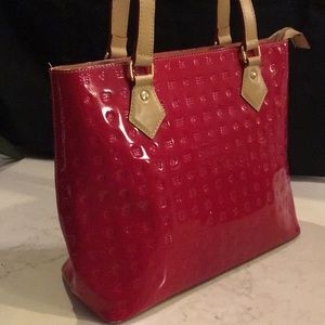 Arcadia Red patent leather tote